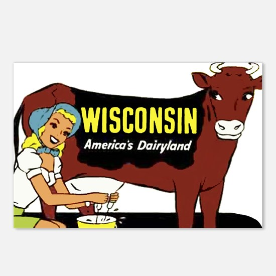 Vintage Wisconsin Dairyland Postcards (Package of