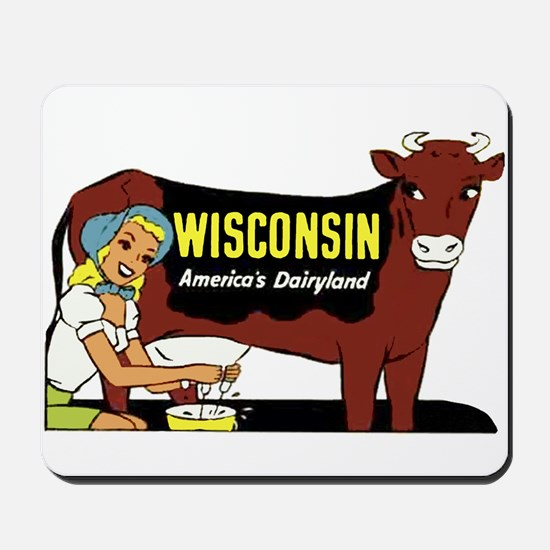 Vintage Wisconsin Dairyland Mousepad
