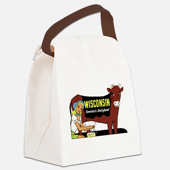 Vintage Wisconsin Dairyland Canvas Lunch Bag