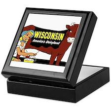 Vintage Wisconsin Dairyland Keepsake Box