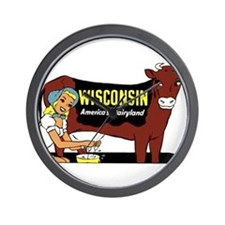 Vintage Wisconsin Dairyland Wall Clock