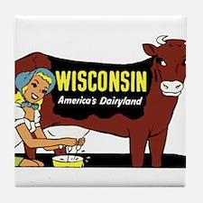 Vintage Wisconsin Dairyland Tile Coaster
