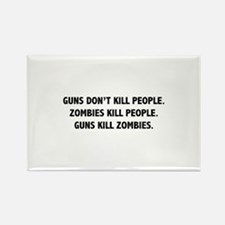 Guns Kill Zombies Rectangle Magnet