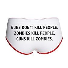 Guns Kill Zombies Women's Boy Brief