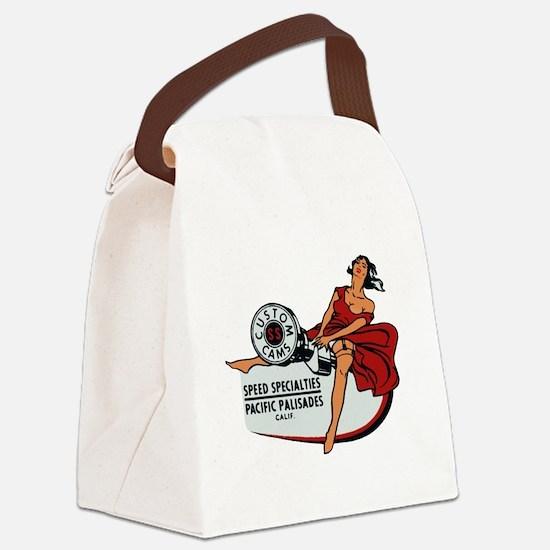 Vintage Custom Cam Pinup Canvas Lunch Bag