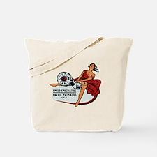 Vintage Custom Cam Pinup Tote Bag