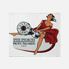 Vintage Custom Cam Pinup Throw Blanket