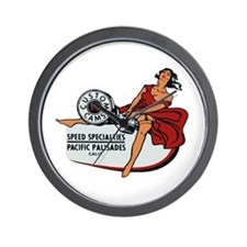 Vintage Custom Cam Pinup Wall Clock