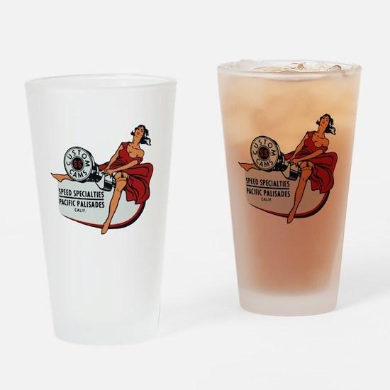 Vintage Custom Cam Pinup Drinking Glass