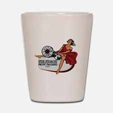 Vintage Custom Cam Pinup Shot Glass
