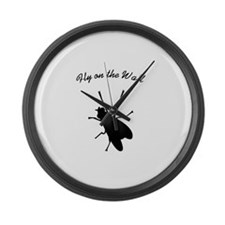 Fly on the Wall Large Wall Clock