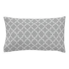 Light Gray Moroccan Quatrefoil Pillow Case