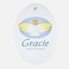 Angel-in-Training - Gracie Oval Ornament