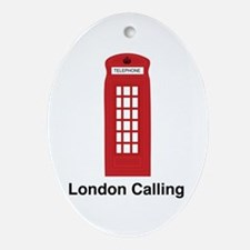London Calling Ornament (Oval)