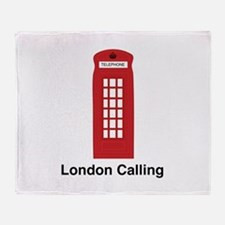 London Calling Throw Blanket