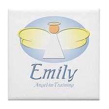 Angel-in-Training - Emily Tile Coaster
