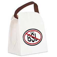 STOPBSLovalsticker Canvas Lunch Bag