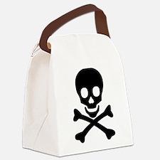 Skull & Crossbones Canvas Lunch Bag