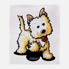 Playful Cairn Terrier Throw Blanket