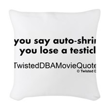 autoshrink.png Woven Throw Pillow
