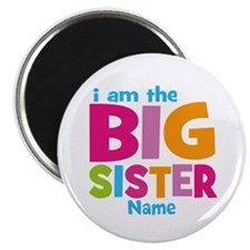 """Big Sister Personalized 2.25"""" Magnet (10 pack)"""