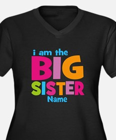 Big Sister Personalized Women's Plus Size V-Neck D