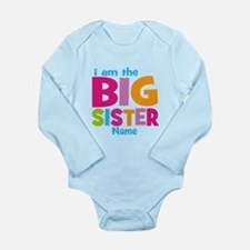 Big Sister Personalized Long Sleeve Infant Bodysui