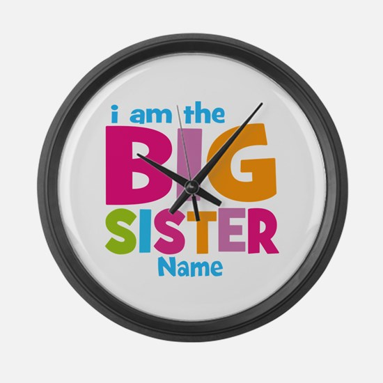 Big Sister Personalized Large Wall Clock