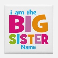 Big Sister Personalized Tile Coaster