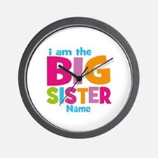 Big Sister Personalized Wall Clock