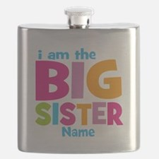 Big Sister Personalized Flask