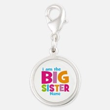 Big Sister Personalized Silver Round Charm