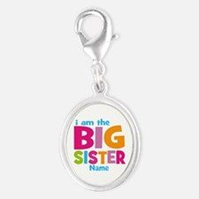 Big Sister Personalized Silver Oval Charm