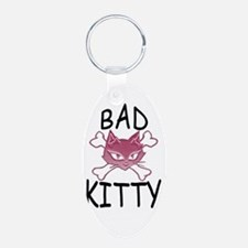 Bad Kitty No rules Keychains