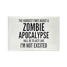 Zombie Apocalypse Rectangle Magnet