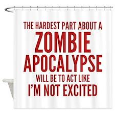 Zombie Apocalypse Shower Curtain
