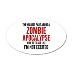 Zombie Apocalypse 22x14 Oval Wall Peel