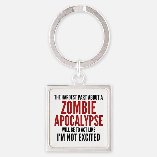 Zombie Apocalypse Square Keychain