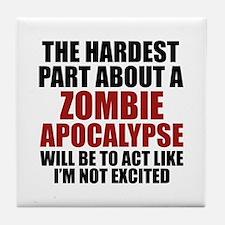 Zombie Apocalypse Tile Coaster