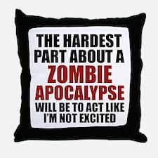 Zombie Apocalypse Throw Pillow