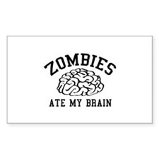 Zombies Ate My Brain Decal