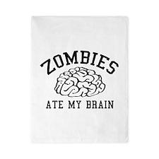 Zombies Ate My Brain Twin Duvet