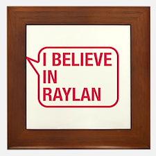 I Believe In Raylan Framed Tile