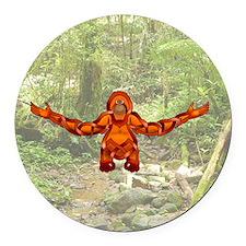 Orangutan Round Car Magnet
