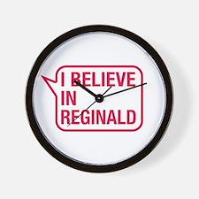 I Believe In Reginald Wall Clock