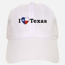 I Love Texas Baseball Baseball Cap