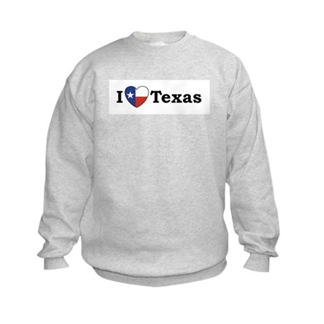 I Love Texas Kids Sweatshirt
