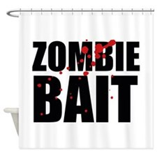 Zombie Bait Shower Curtain