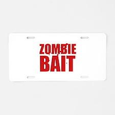 Zombie Bait Aluminum License Plate