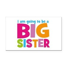 Big Sister Personalized Rectangle Car Magnet